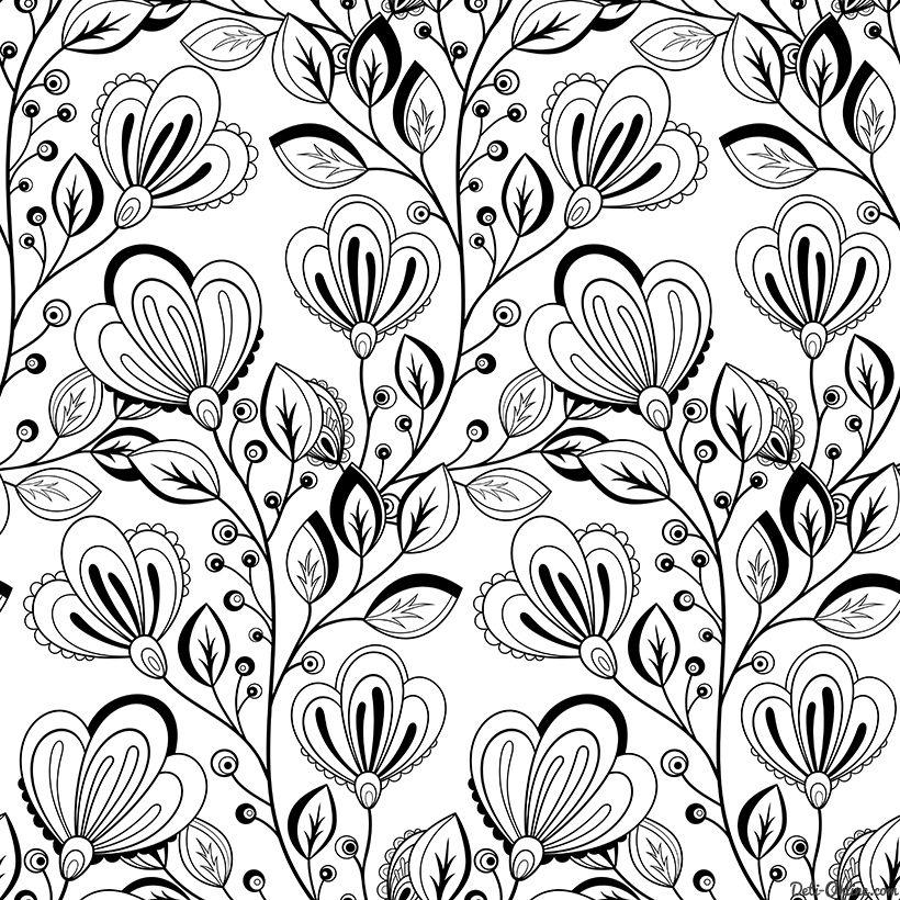 Раскраска Антистресс Полевые цветы | Раскраски ...