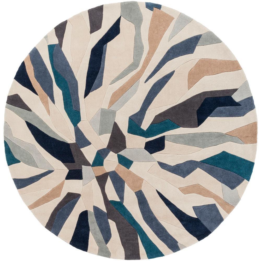 Artistic Weavers Nabari Bright Blue 8 Ft X 8 Ft Round Indoor