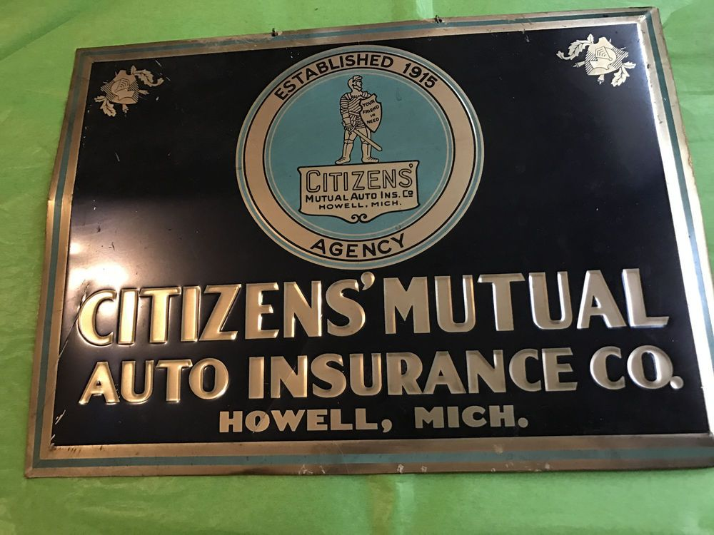 Citizens Mutual Auto Insurance Sign Howell Michigan