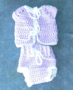 deaf5e8e7 Preemie Crocheted Going home outfit/free pattern   Baby blankets ...