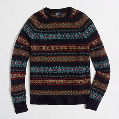 J.Crew Factory - Factory lambswool fair isle sweater - size Large ...