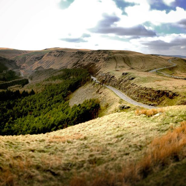 On top of the Bwlch above Treorchy
