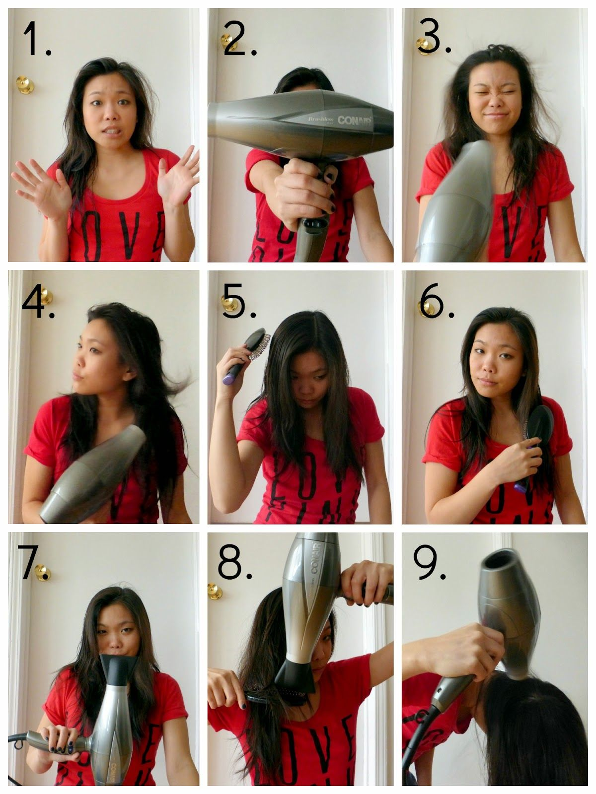 La Vie En May Petite Fashionista Beauty Junkie Style Your Hair With Conair Blow Dry Hair Blow Hair Straight Hairstyles