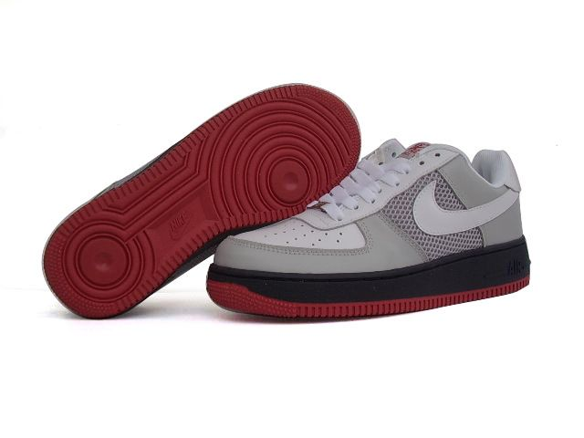 Chaussures Nike Air Force One Noir/Blanc/Gris/Rouge [nike_10589 ...