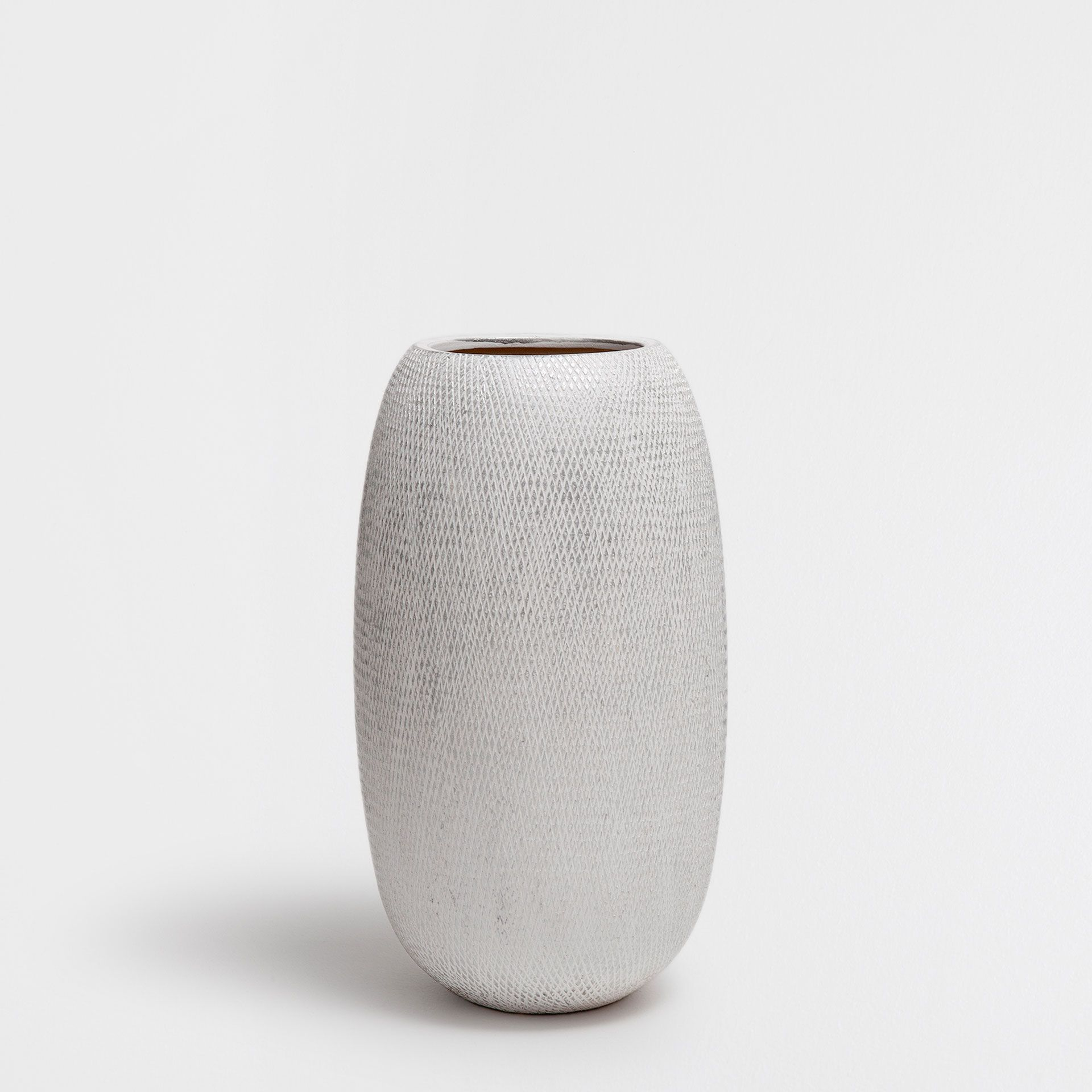 TERRACOTTA VASE WITH SILVER STRIPES - Decoration - New Collection | Zara Home France