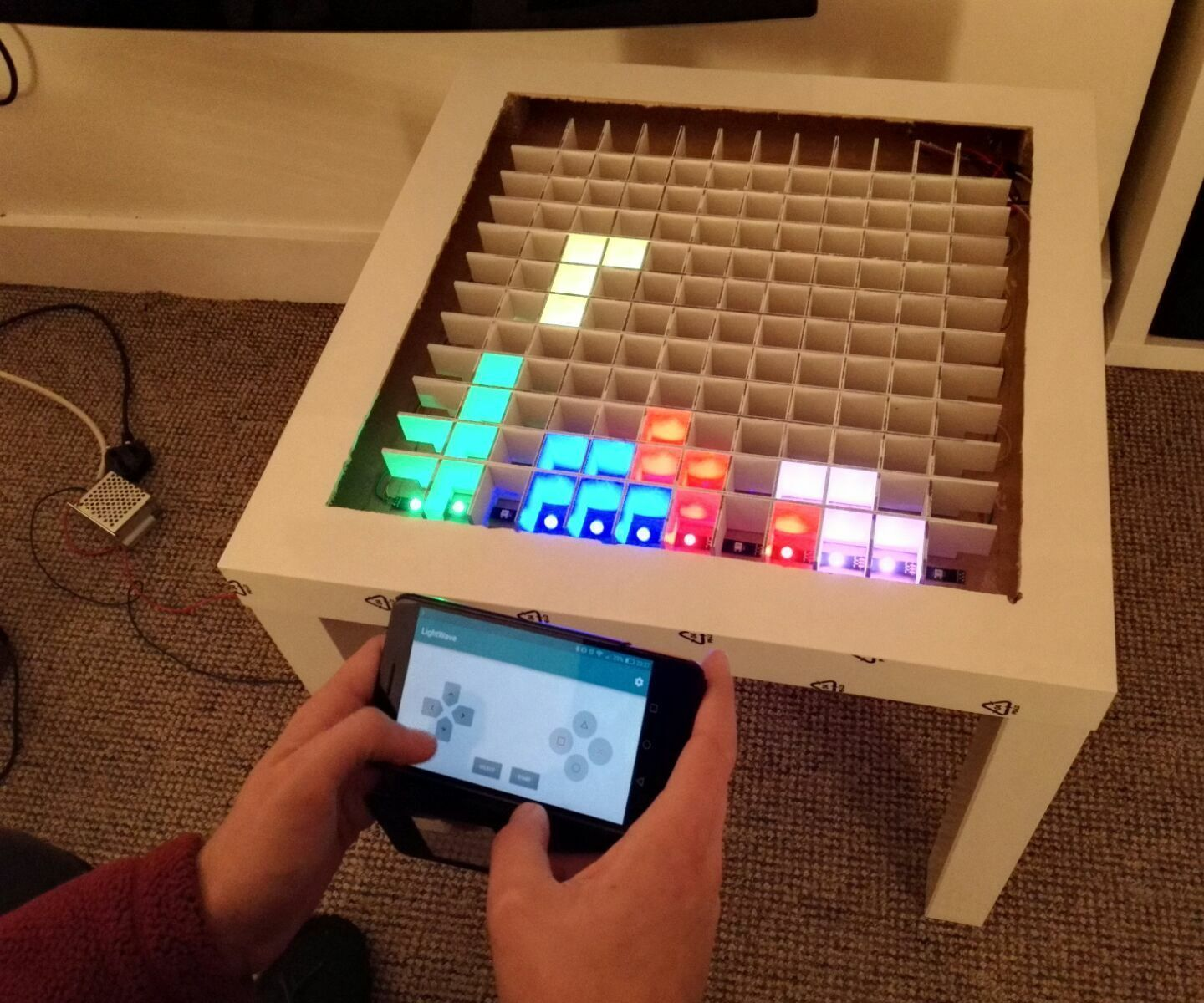 Bluetooth Controlled Arduino LED Coffee Table | arduino ...