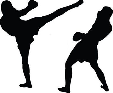 Kick Boxing For Self Defense Siluetas De Personas Artes Marciales Mixtas Boxeo Dibujos