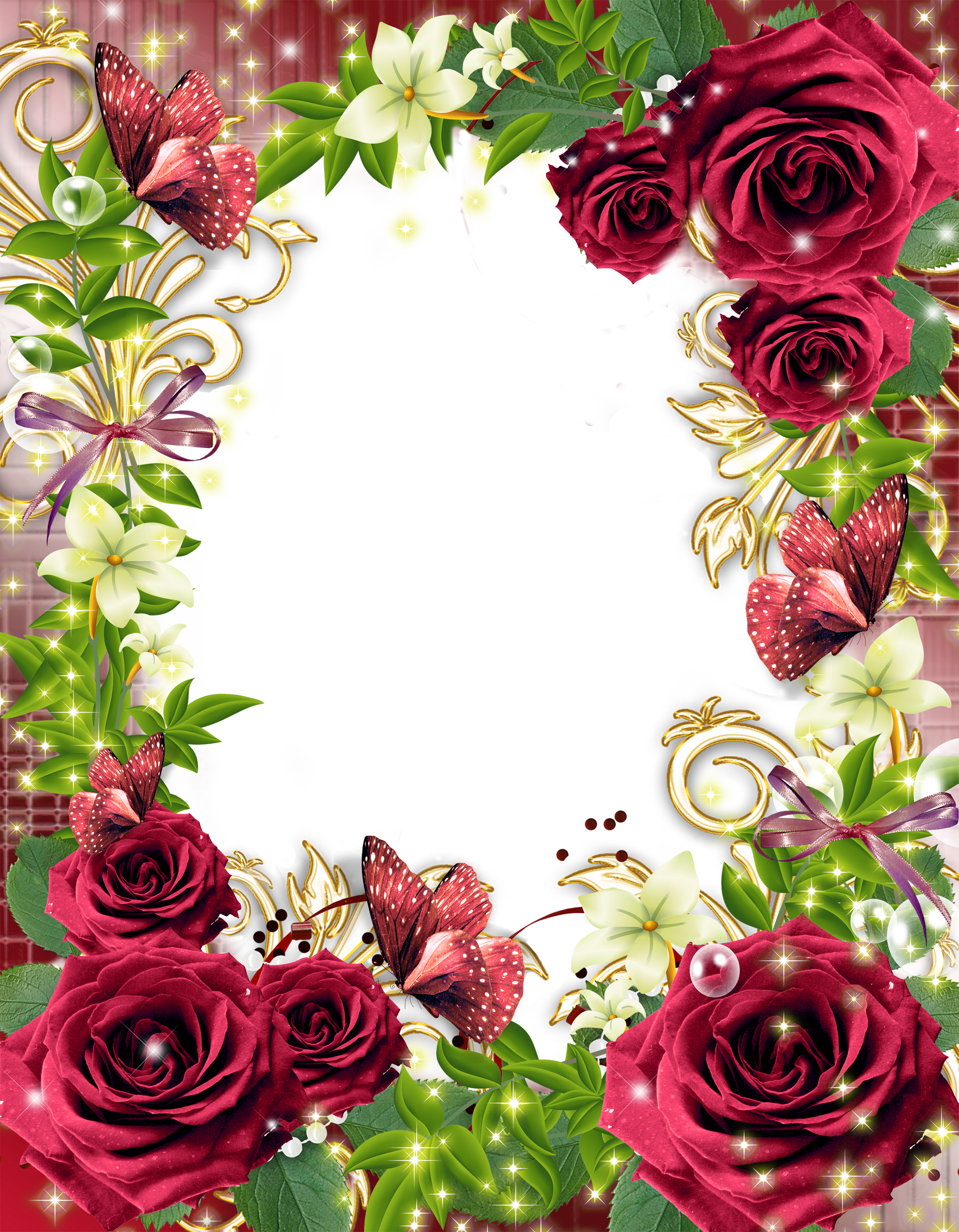 Transparent Png Photo Frame With Red Roses Gallery Yopriceville High Quality Images And Transparent Png Free Clipart Flower Frame Red Roses Photo Frame