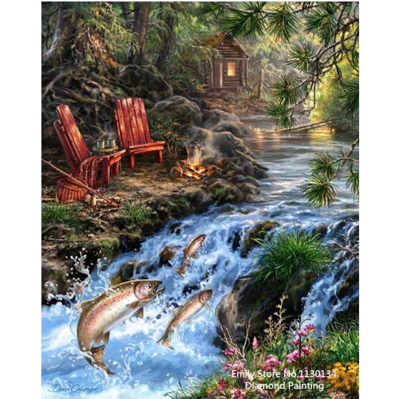 Diy Diamond Embroidery Landscape Painting Full Rhinestones Pasted Painting Cross Stitch Mosaic Craft The Mediterranean Sea DP620