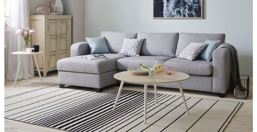 Lydia Right Hand Facing Chaise End 3 Seater Sofa In 2019