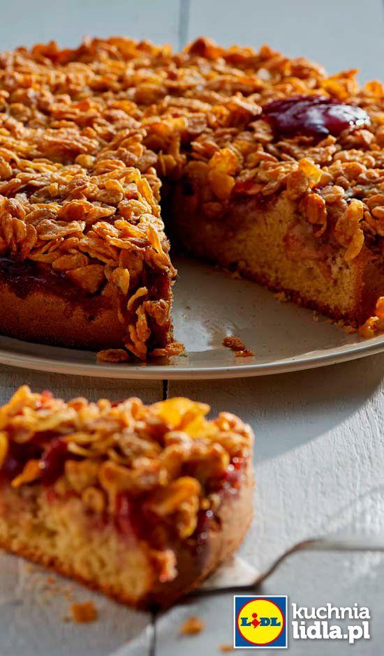 Migdalowe Ciasto Z Jablkami I Konfitura Truskawkowa Przepis Recipe Desserts No Bake Desserts Food