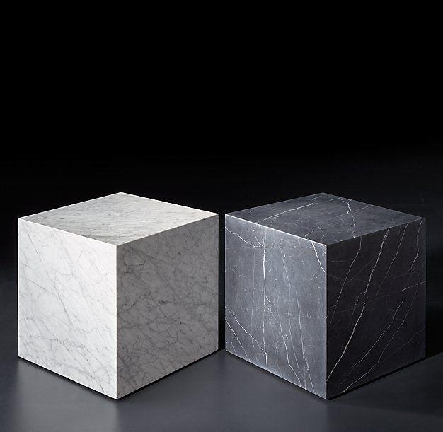 Marble Plinth Cube Side Table Marmortisch Design Und Tisch
