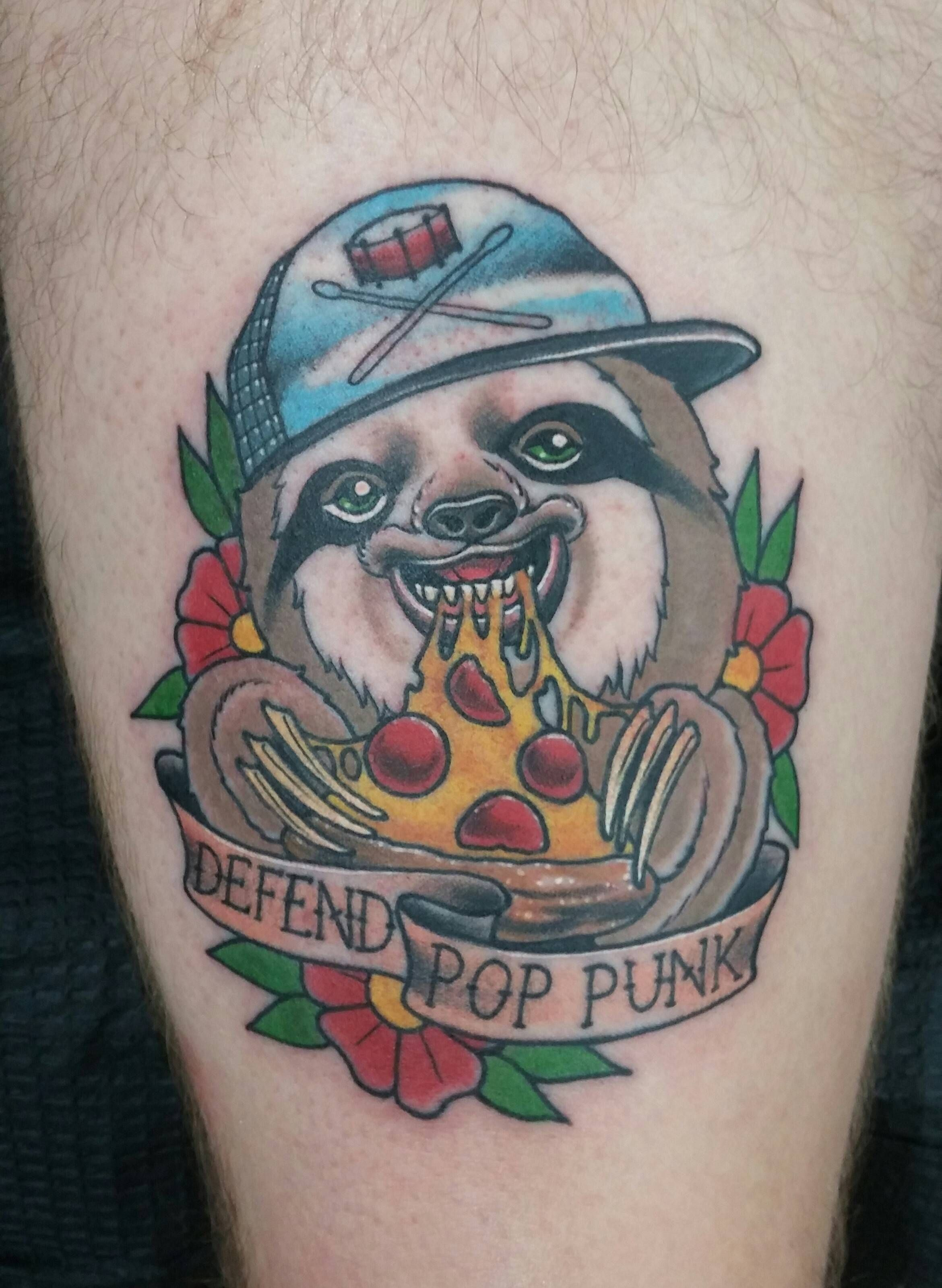 Pizza Sloth. Josh Legend at the Constable Tattoo in Plainfield IL
