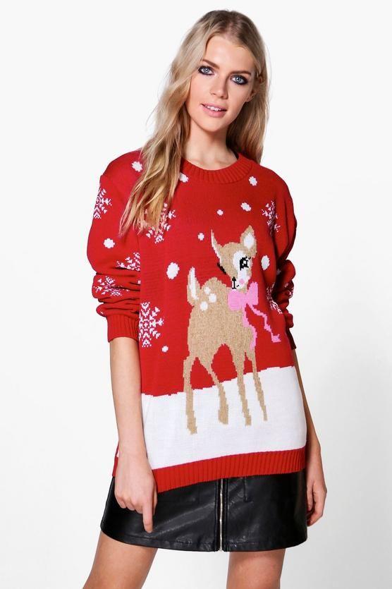 Niamh Reindeer Christmas Jumper Christmas jumpers, Jumper and