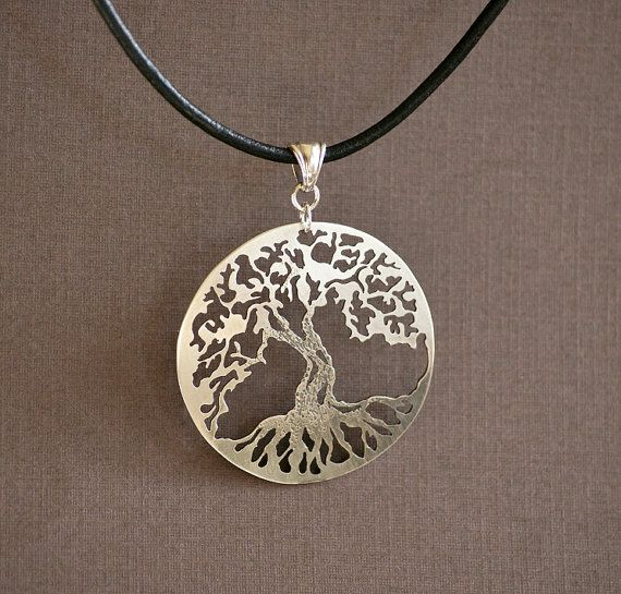 Tree of Life  Hand Cut Sterling Silver Pendant by IntricateCuts