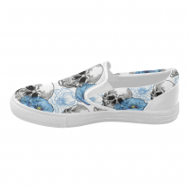 8bc37c4c261795 InterestPrint Cool Sugar Skull Poppy Casual Slip-on Canvas Women s Fashion  Sneakers Shoes