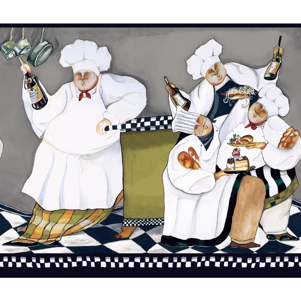 fat chef wallpaper border am8848bd http://decorate247/fat-chef