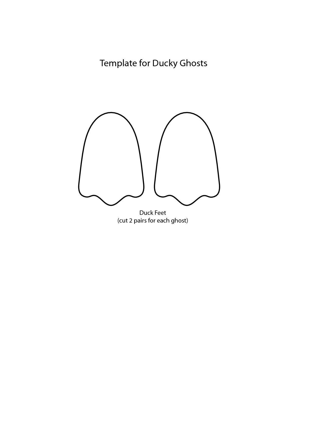 Duck Bill Template Feet