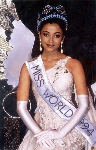 Miss World 1994 Aishwarya Rai India 19th November 1994 Sun City Entertainment Center Sun City South Afri Most Beautiful Indian Actress Miss World Pageant