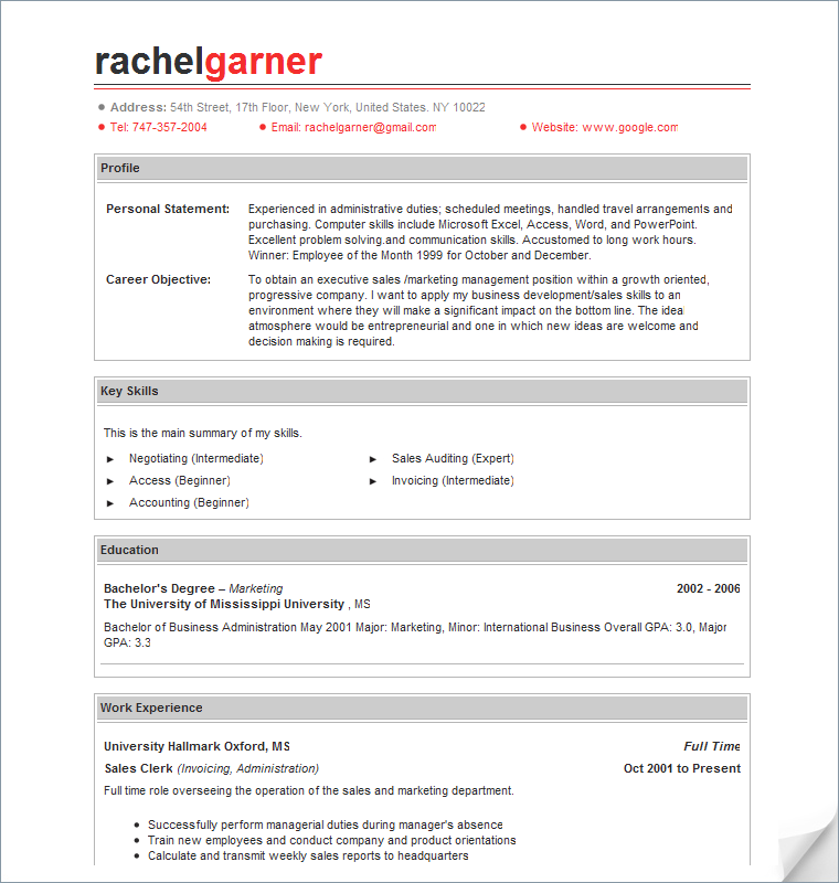 Programmer Resume Sample You have to create a good resume for – Professional Resumes Sample