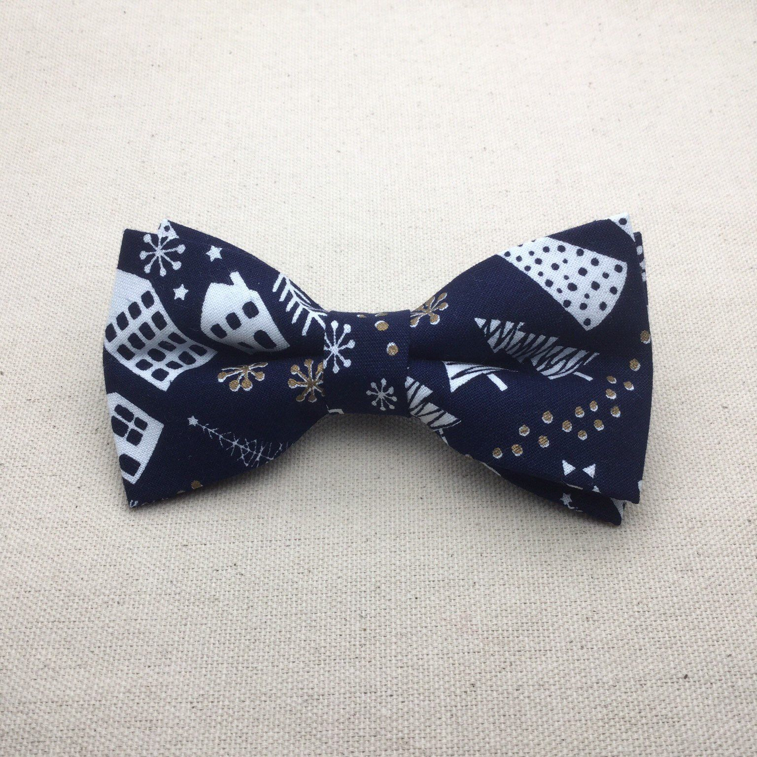 ccc16b70fd58 Navy Blue Christmas Bow Tie, Xmas BowTie, Children Bow Tie, Navy Bow tie