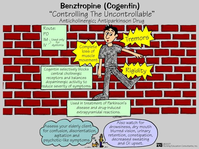 Benztropine cogentin medication
