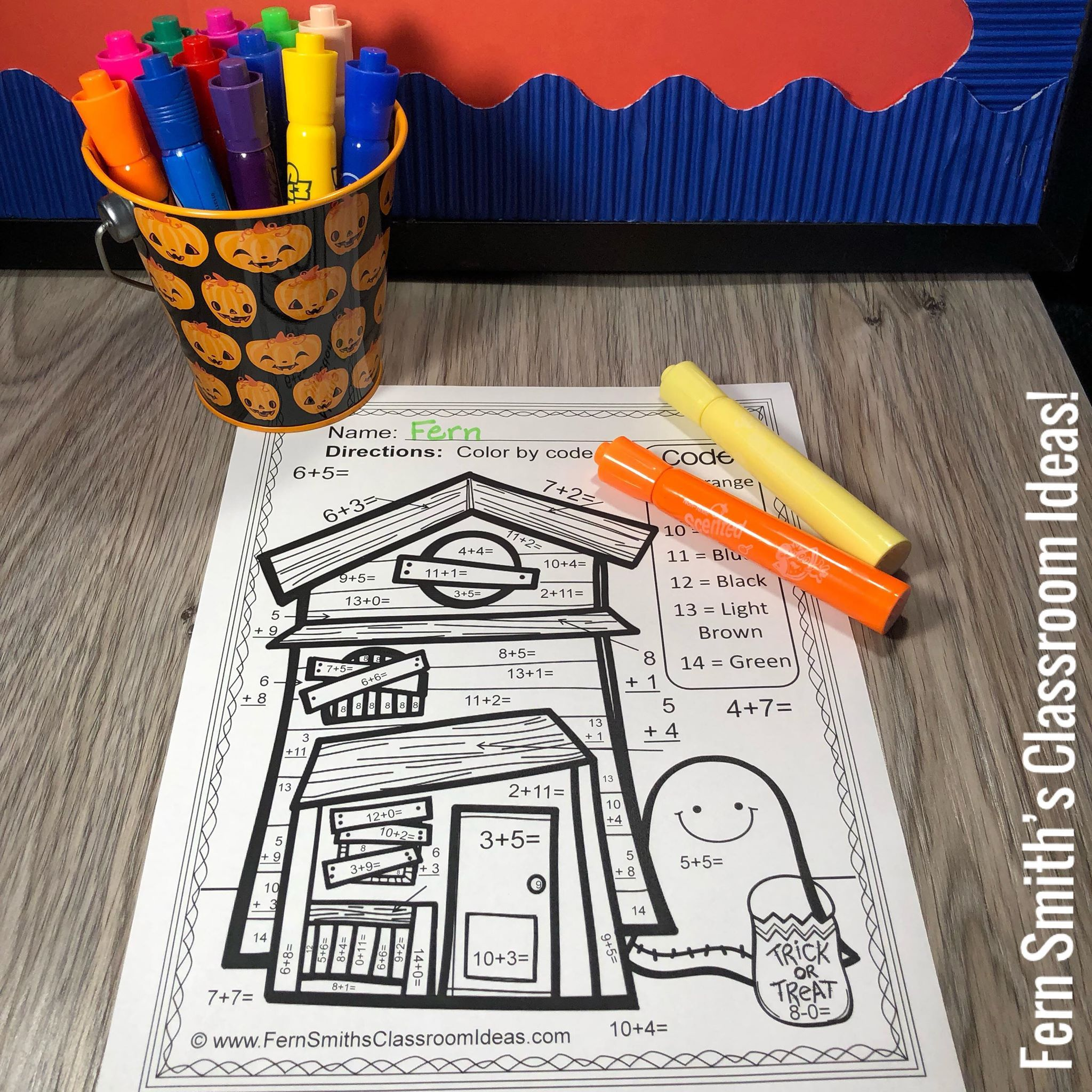 Halloween Color By Number Addition Amp Subtraction Bundle In