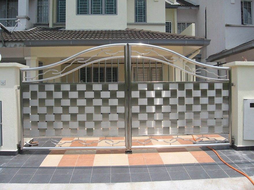 New design cast iron aluminium stainless steel gate Metal gate designs images