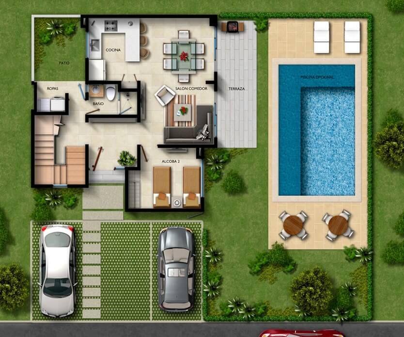 Bienvenido a cabo verde praia un proyecto moderno nico for Casas para alquilar en verano con piscina privada