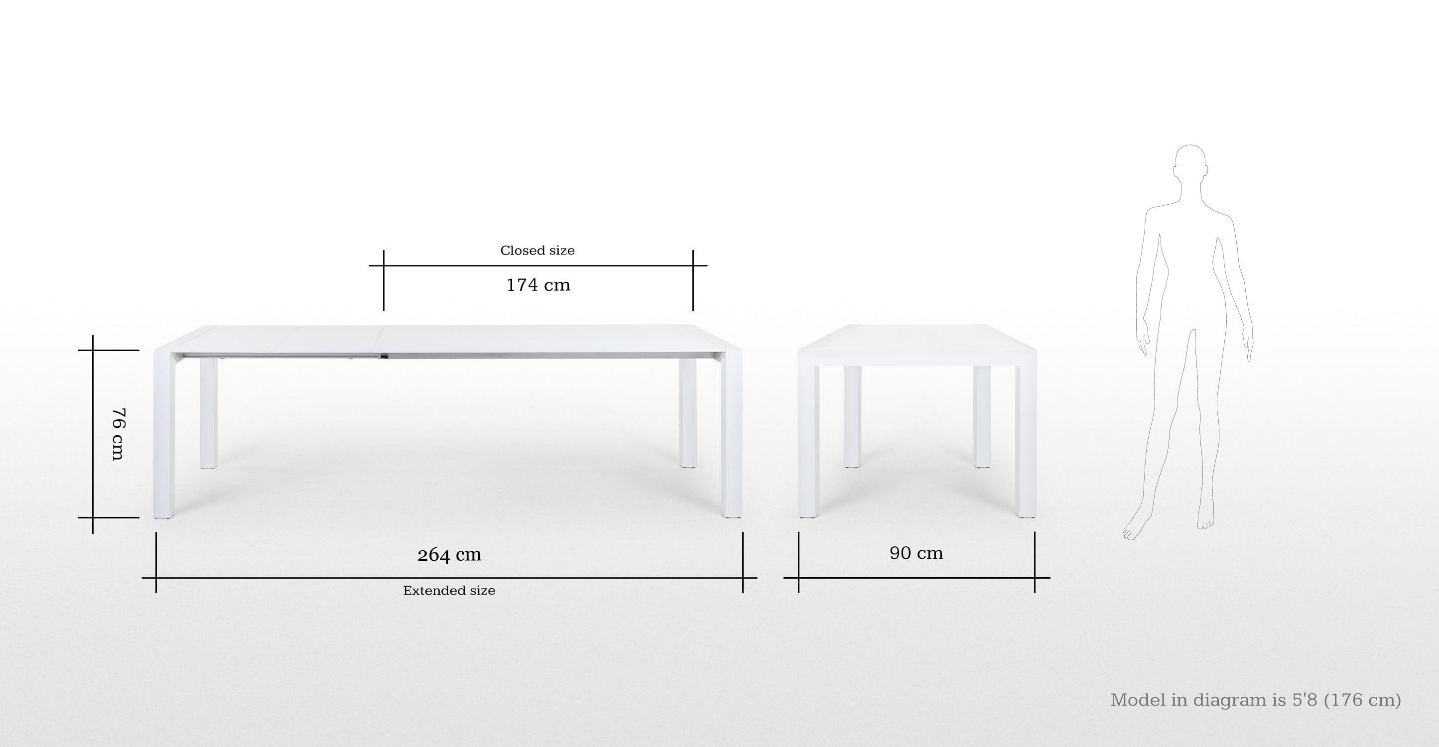 Eettafel Wit Design.Bramante Uitschuifbare Eettafel Wit