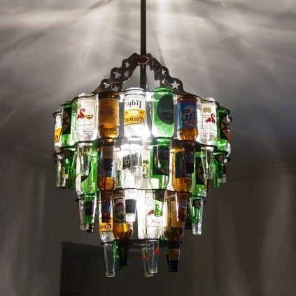 bierflaschen kronleuchter fr mnner lampe lamp - Kronleuchter Bierflaschen