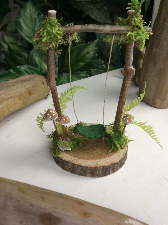 Fairy Swing by Olive* ~ 6″ Tall by 5″ Wide ~ Faerie Swing, Fae Swing, Faerie, Fairy Accessories