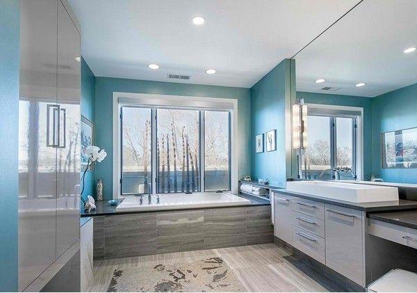 badezimmer modernes badezimmer türkis design | bad | pinterest,