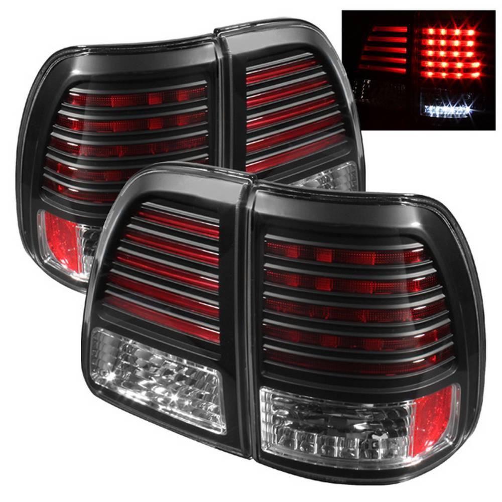 Spyder Auto Toyota Land Cruiser 98 05 Led Tail Lights Black 5007537 The Home Depot Toyota Land Cruiser Led Tail Lights Land Cruiser