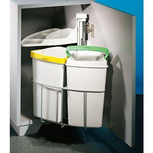 Abfallsorter CABBI junior-2 / ab 40 cm Schrankbreite / Abfalleimer