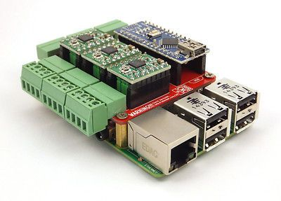 Raspberry Pi CNC Hat V2 60 - GRBL v1 1 Compatable - Uses Pololu