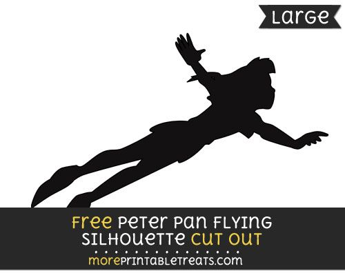 graphic regarding Tinkerbell Silhouette Printable referred to as Cost-free Peter Pan Traveling Silhouette Slice Out - High dimensions