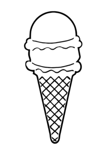 Ice Cream Cone Clipart Google Search Ice Cream Outline Outline Art Abstract Coloring Pages