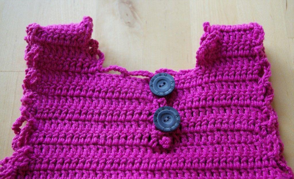 Baby Kleid Kleidchen Sommerkleid Häkeln Anleitung Kostenlos Rücken