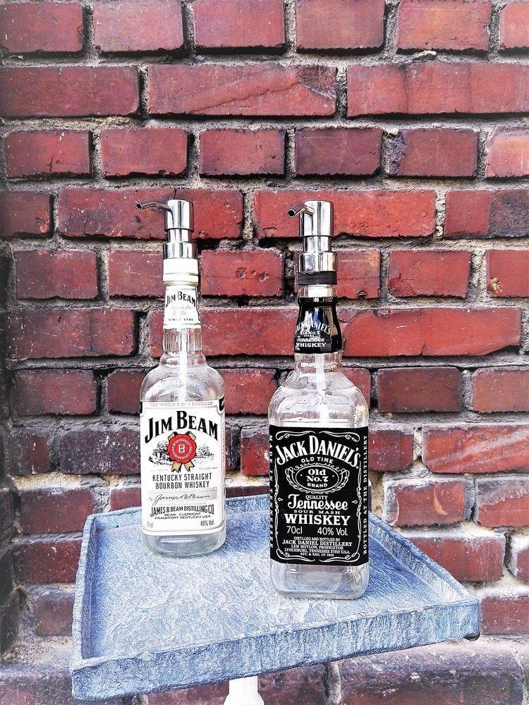 jack daniels und jim beam flasche als seifenspender. Black Bedroom Furniture Sets. Home Design Ideas