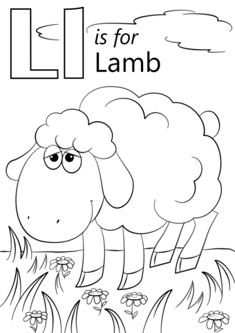 Letter L Is For Lamb Coloring Page From Letter L Category Select From 26514 Printable Crafts Of Car Letter L Crafts Alphabet Coloring Pages Abc Coloring Pages