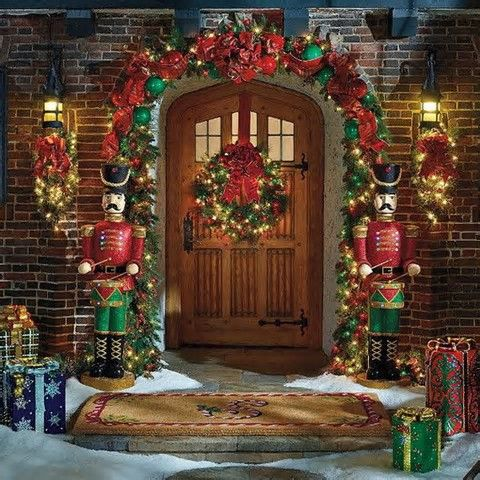 Image result for pictures of outdoor Christmas decor christmas