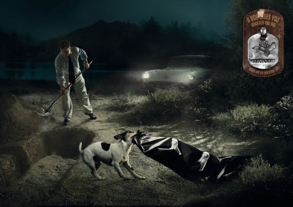 Amici Cani - A dog loves you whoever you are. Adopt one on amicicani.com #Advertising #BBDO