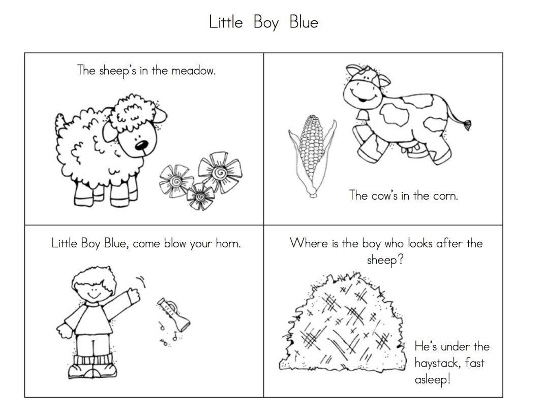 More Fun With Nursery Rhymes Nursery Rhymes Activities Nursery Rhymes Blue Nursery Boy [ 827 x 1070 Pixel ]
