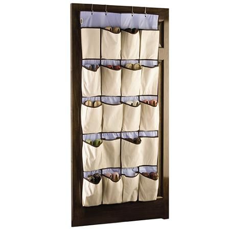 Rubbermaid Hanging Canvas 20 Pocket Shoe Organizer Walmart Com Shoe Organizer Hanging Canvas Hanging Shoe Rack