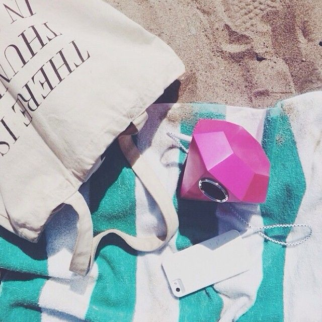 There's no doubt about it - @randomactsofpastel knows what to pack for the perfect beach day! The @shopbando gem speaker + @fieldguided tote... // @shopbicyclette on instagram