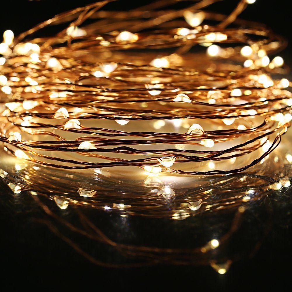 Guirlande lumineuses solaire à 150 led 15m fil de cuivre lampe décorative multi mode