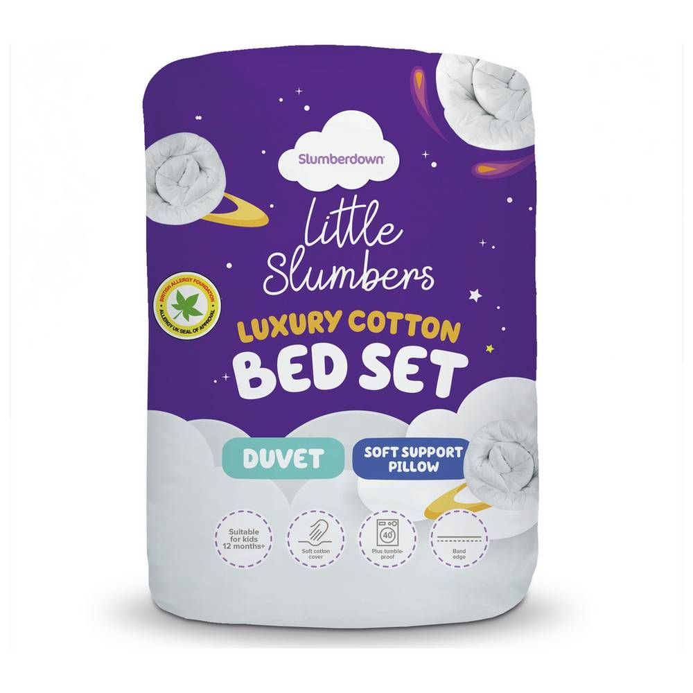 Buy Little Slumbers Allergy Protection 4 Tog Bedset Cotbed Nursery Duvets And Pillows Argos Bed In A Bag Cotton Bedding Sets Bedding Sets