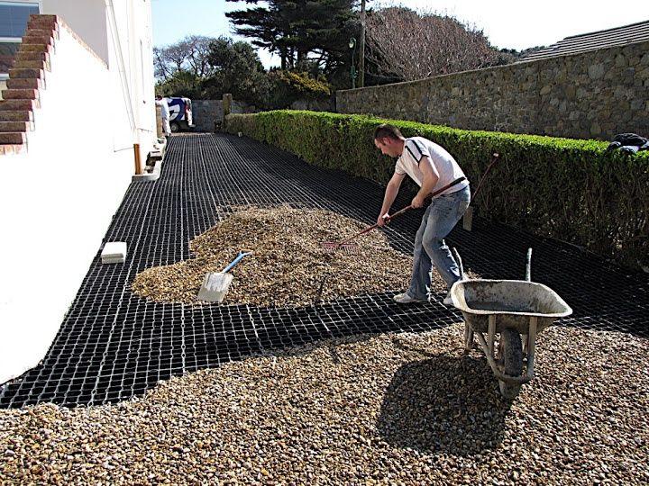 Honeycomb gravel driveway google search driveways for Pavimento jardin