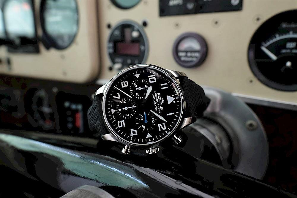 4b3adabd5 Pánské letecké hodinky Fortis Aviatis Pilot Classic Chronograph☑  -Vodotěsnost 50 M -Safírové sklo -Chronograph